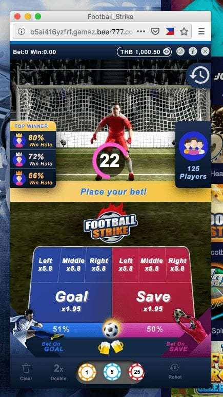 click2sbobet football strike 3