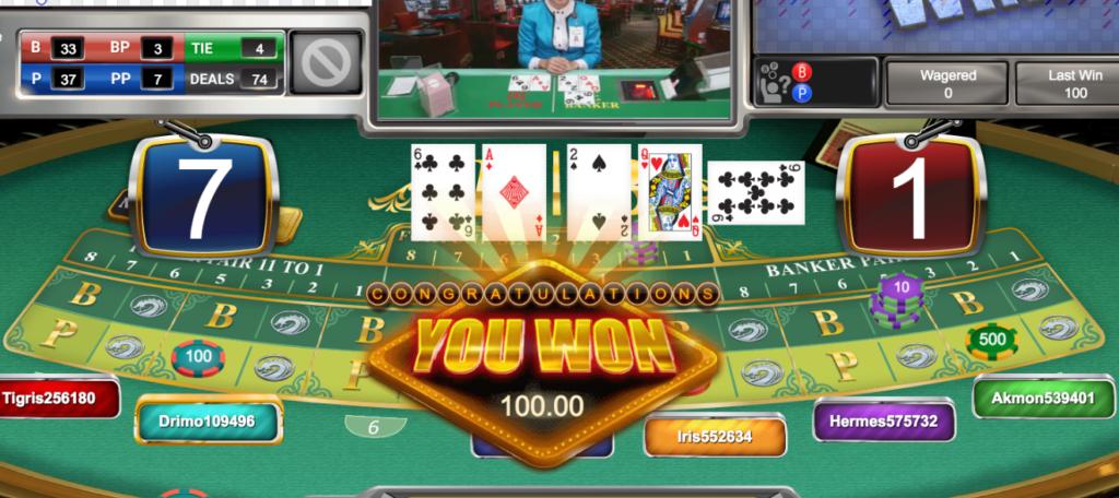 click2sbobet live casino baccarat 5