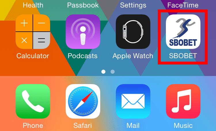 วิธีเข้าเล่น SBOBET ใน iPhone ง่ายๆ เพียงคลิกเดียว